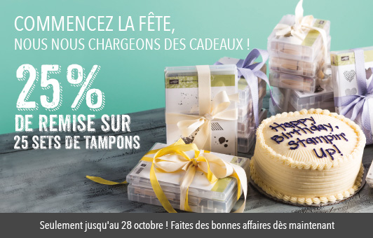 25 % de réduction tampons stampinup