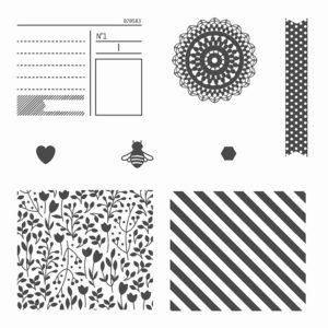 Bits and piece bois-mount stamp set