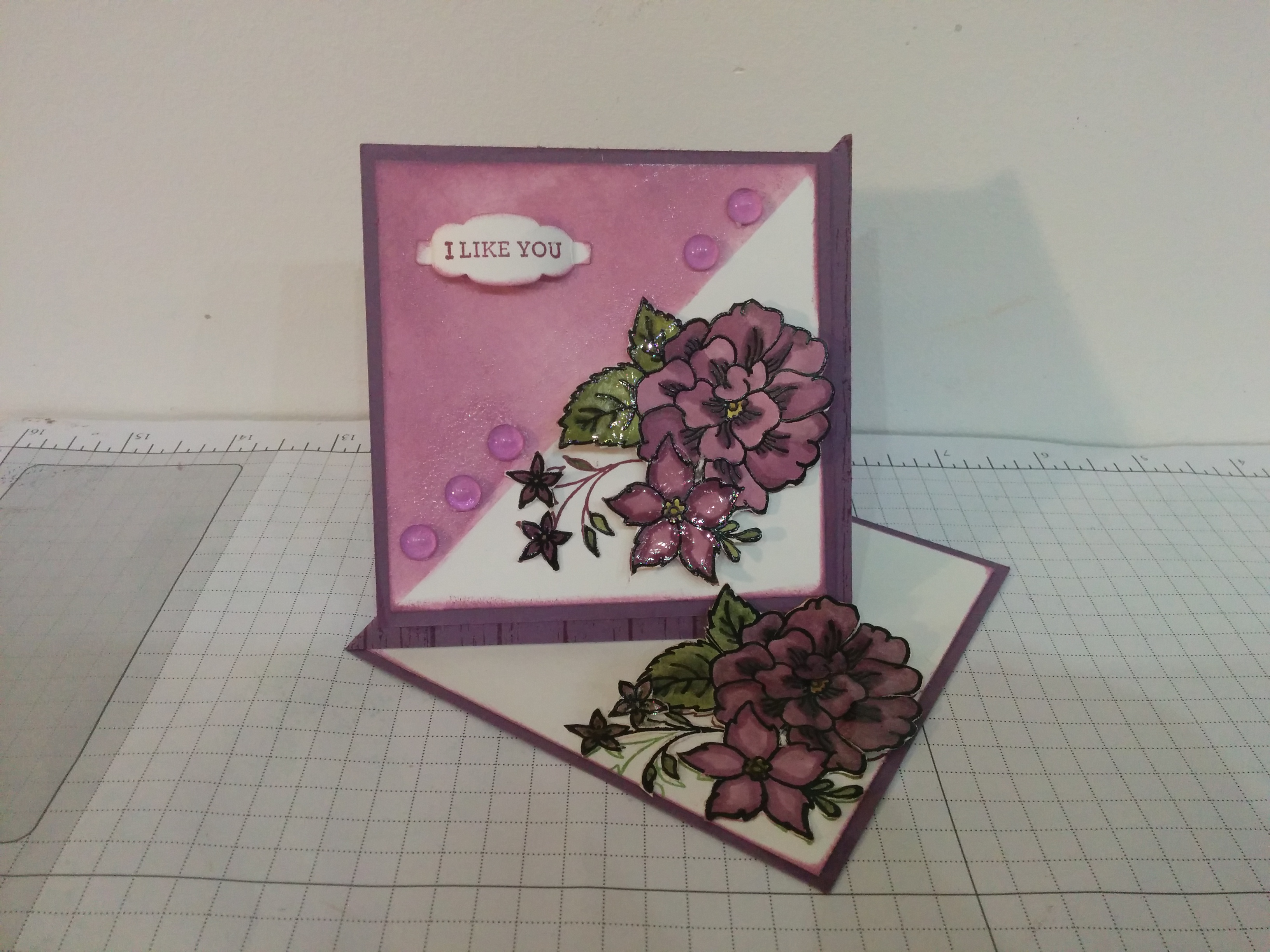 Carte chevalet stampin'up