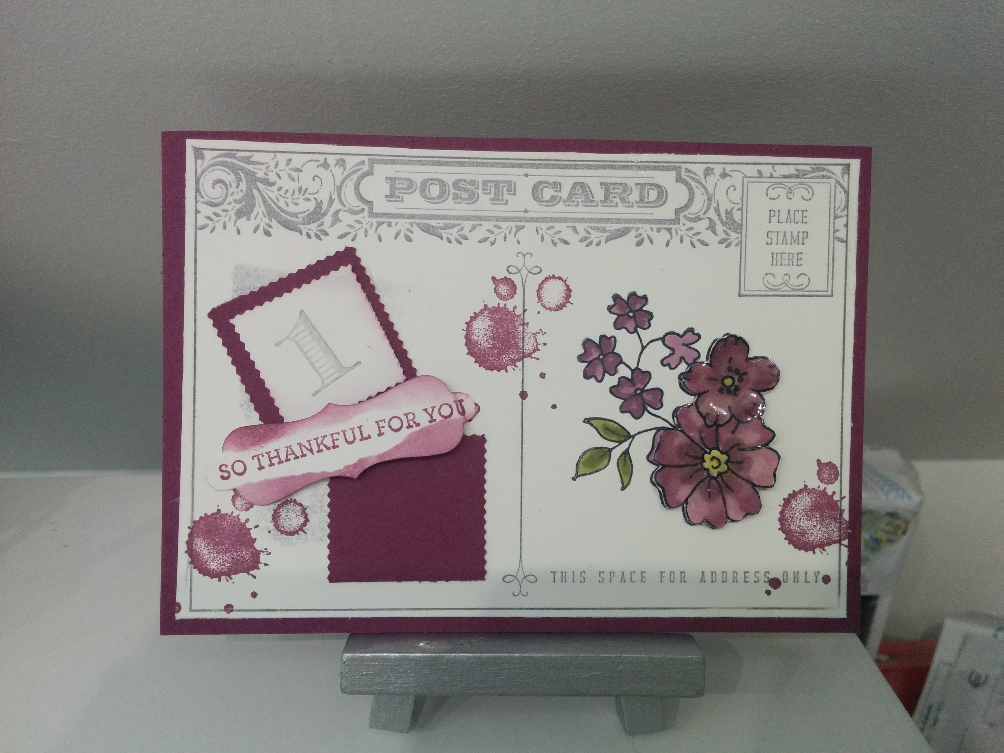 carte stampin'up scrapbooking