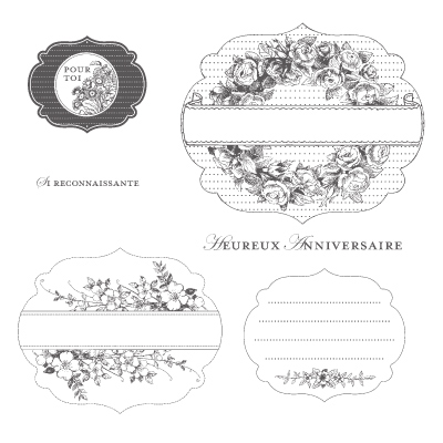 Set de tampon art floral stampin'up pour le scrapbooking