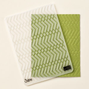 gauffrage zig zag stampin'up