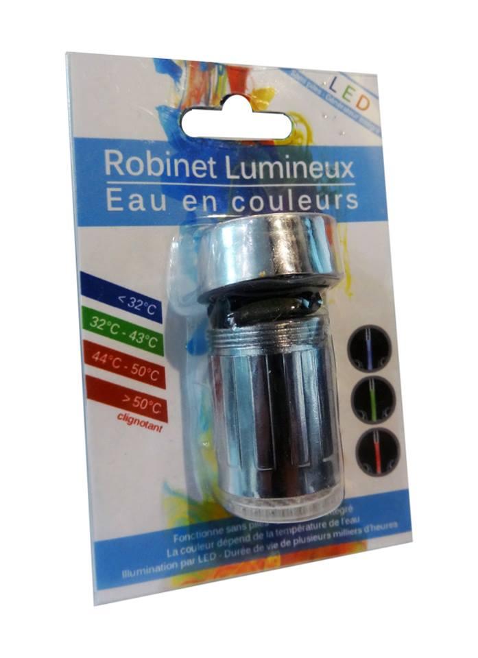 embouts robinets lumineux eau en couleur!