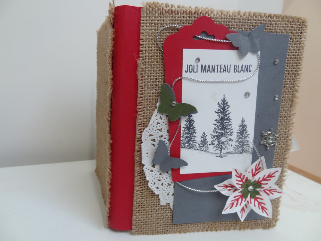 Mini album jolie manteau blanc scrapbooking