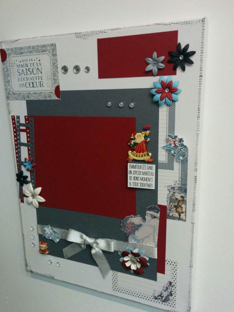 une toile scrapé thème Noel