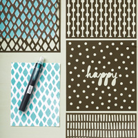 pochoir stampin'up