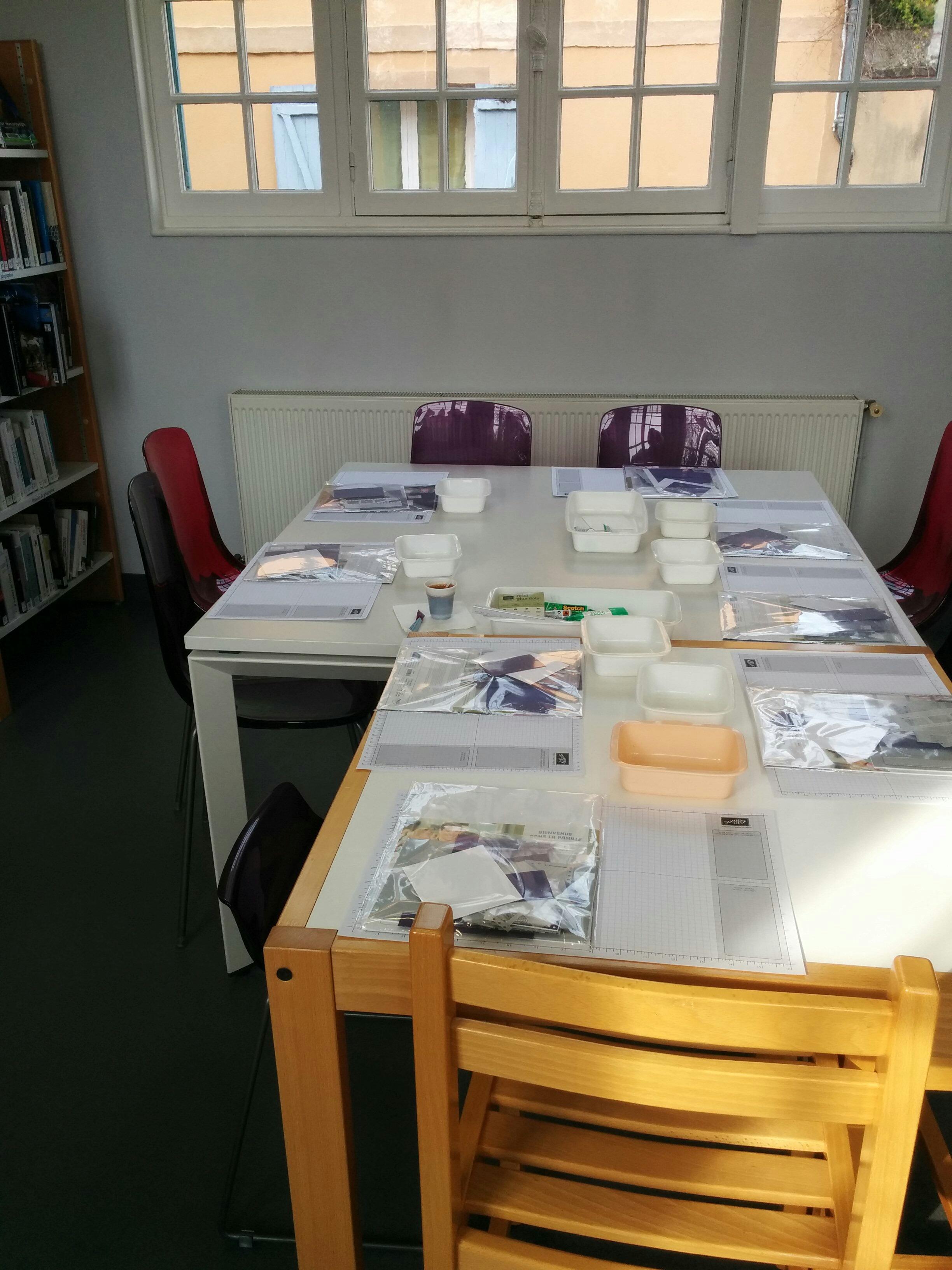 atelier biblilothèque d'anet scrapbooking