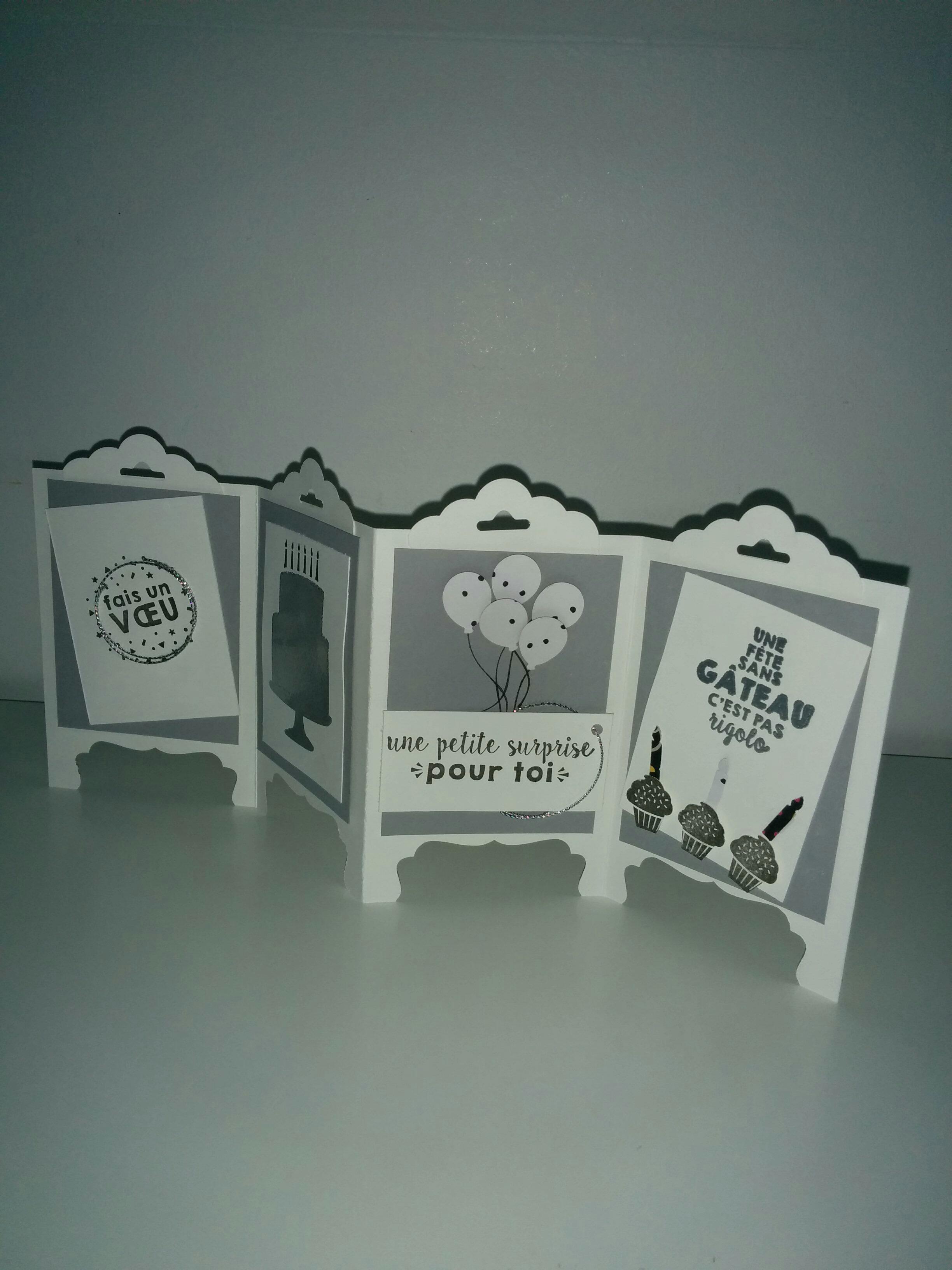 carte scrapbooking avec set de tampon stampin'up fete du tonnerre