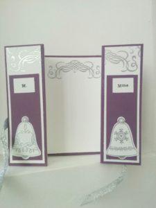 Une carte avec le set de tampons stampinupcloches de circonstances ainsi que la perfo cloches