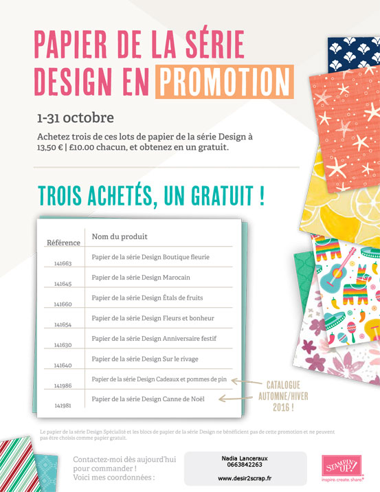 flyer promo stampin'up