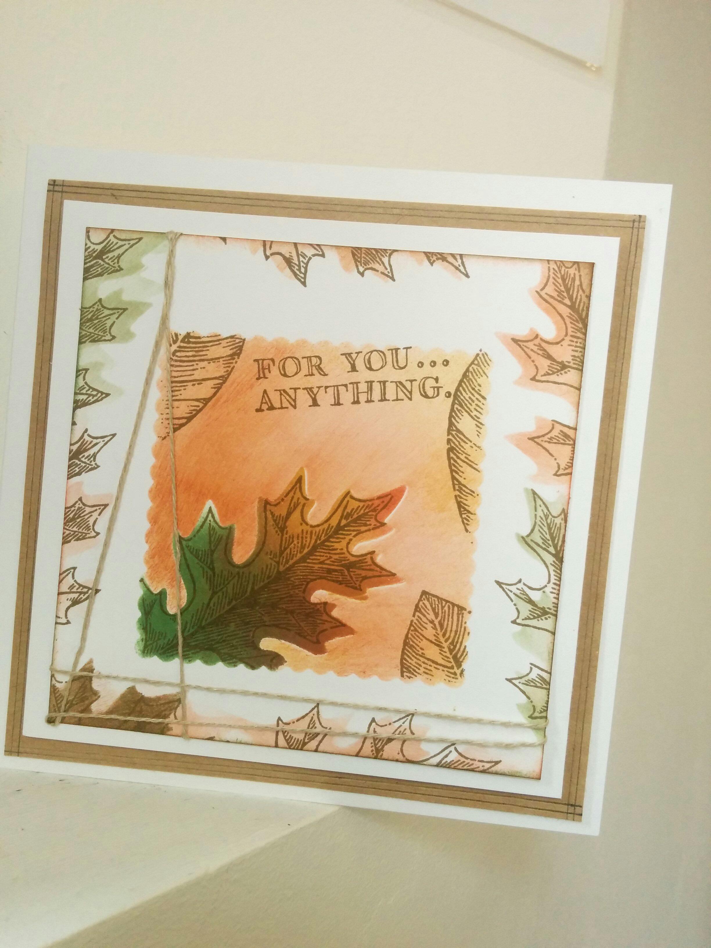 vintage leaves set de tampons stampin'up carterie