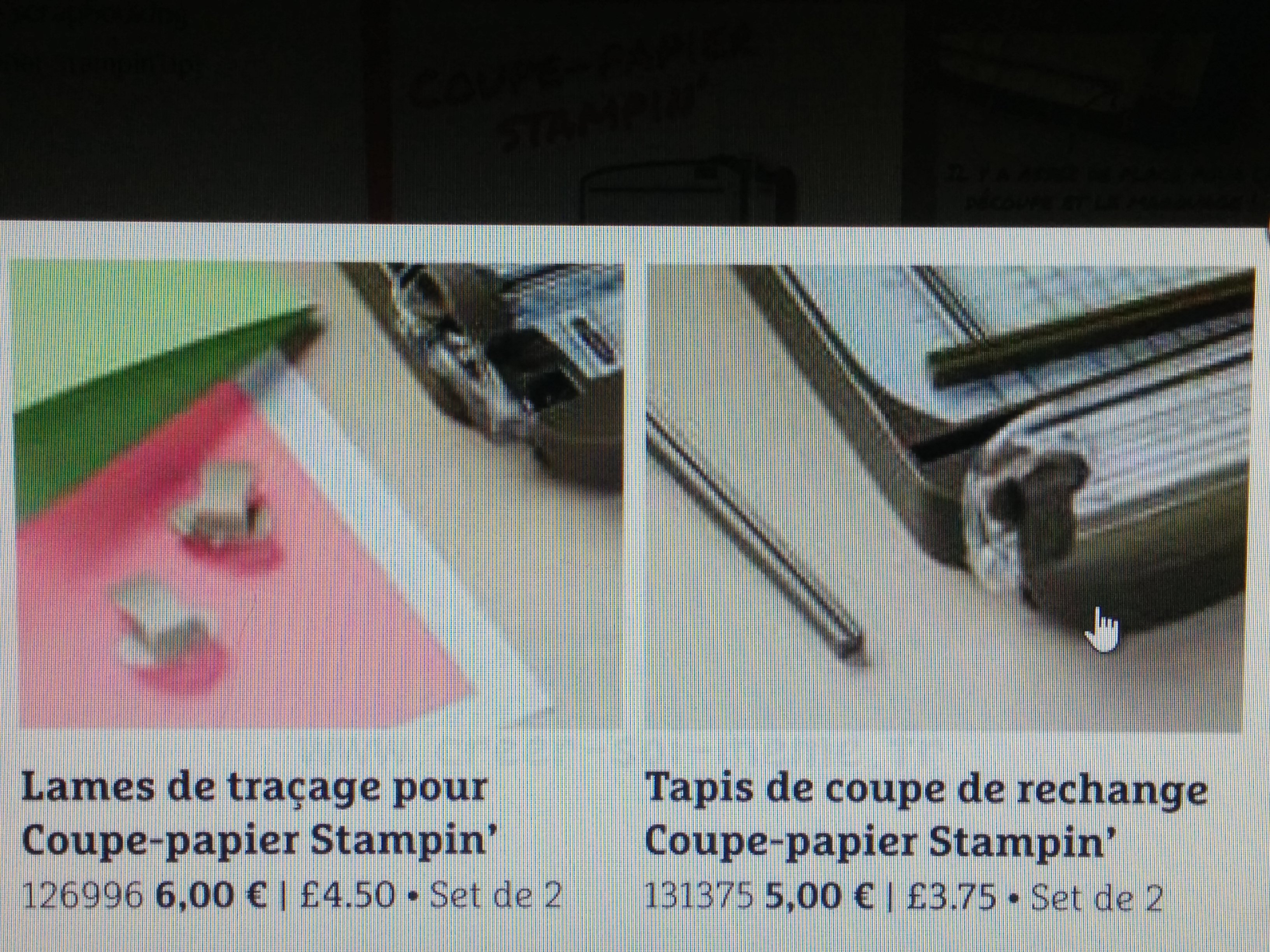 stampinp'up coupe papier