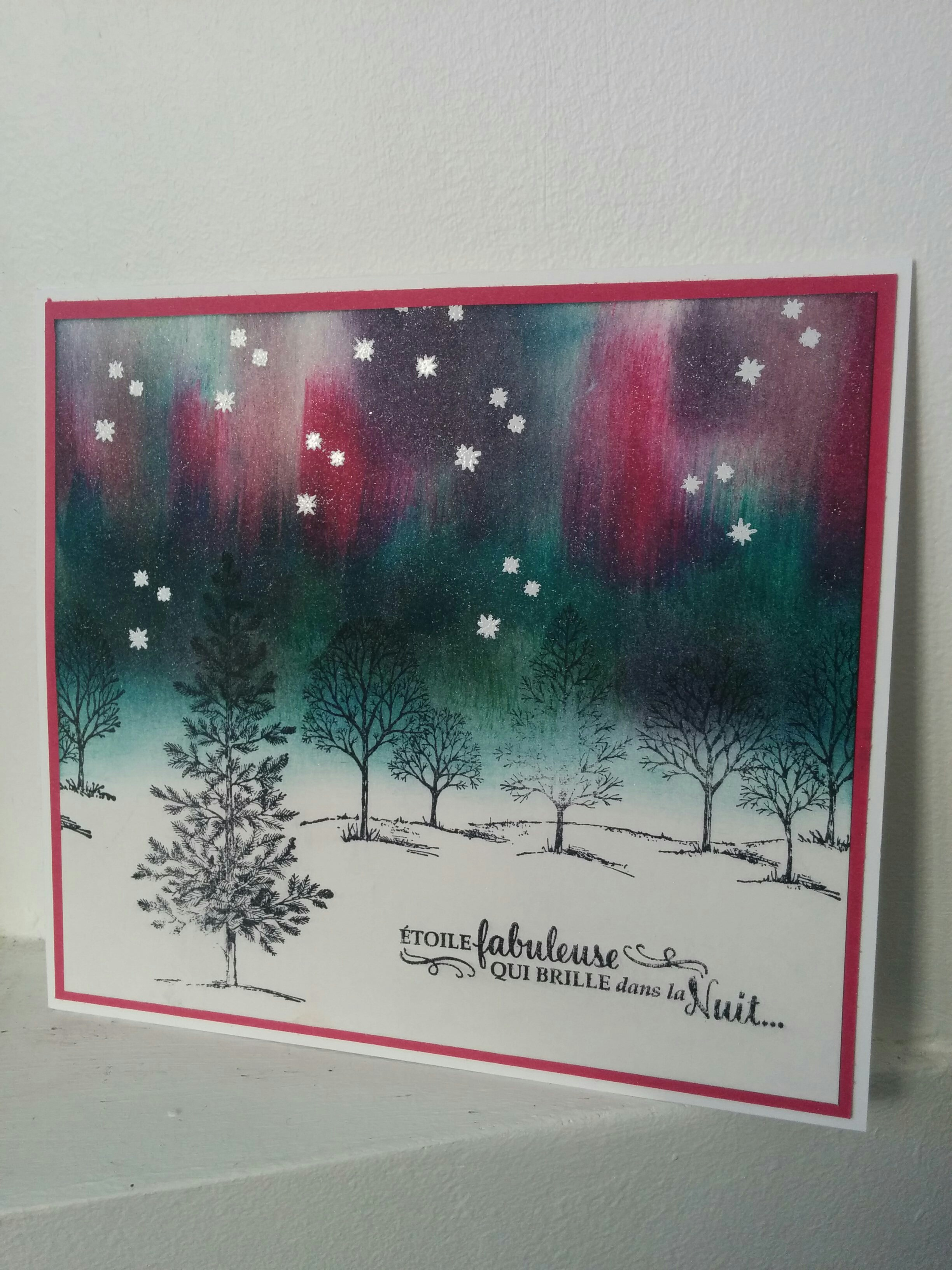 une carte avec le set de tampons lovely as a tree stampin'up