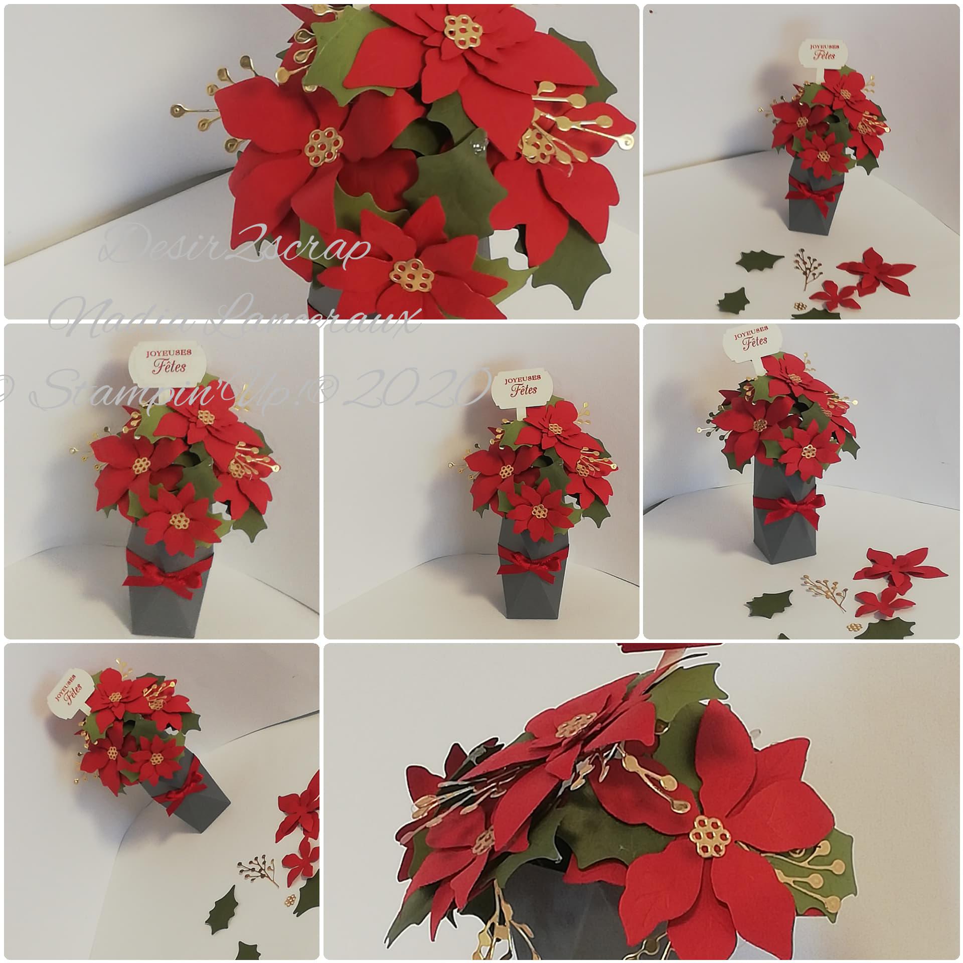bouquet de poinsettia stampinup