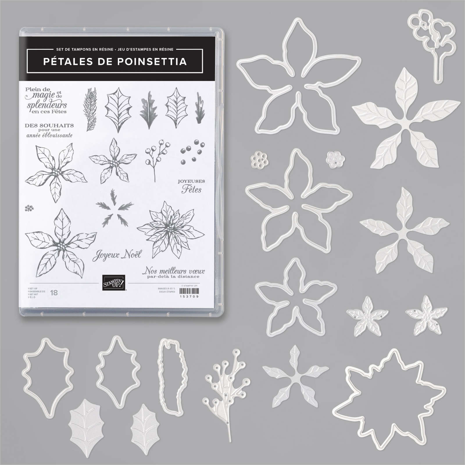 lot poinsettia stampinup