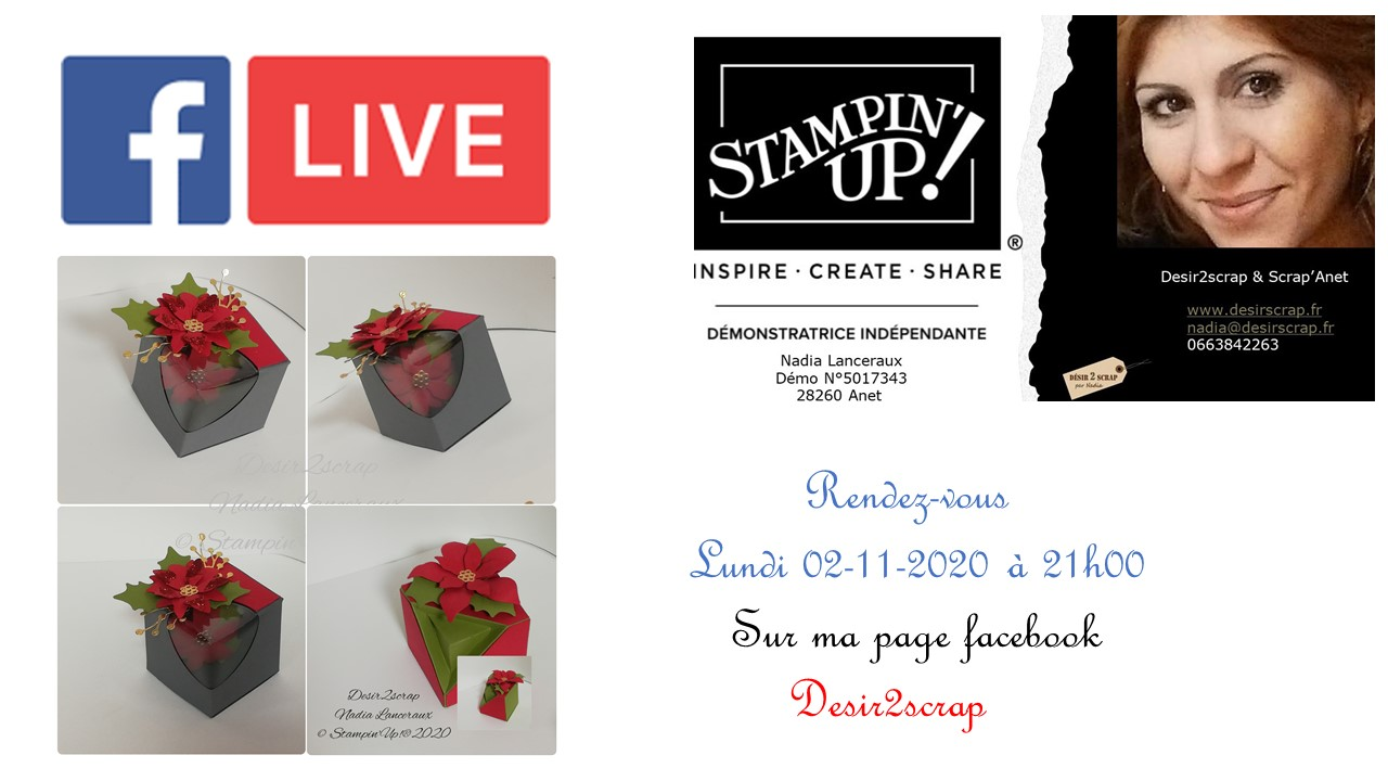 boite poinsettia live facebook stampinup